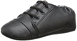 Robeez Basic Brian Flat (Infant), Black, 12-18 Months M US Infant