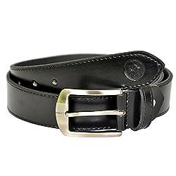 MOSPL Men's Leather Belt (OMBT3006_Black_42)