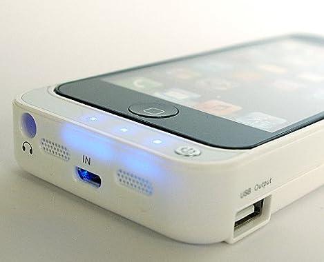 ケース一体型充電 おでかけチャージャー for iphone5 4200mAh ホワイト 白 / 大容量バッテリー大容量 電池 モバイルバッテリー  / USB でも 充電 スマートフォン スマホ バッテリー iPhone4S / mophie juice pack plus / mophie juice pack helium air / eneloop / enecycle /iBUFFALO / MCO ポケットソーラーバッテリー / パワーバンク / パワーフィルム / より機能的