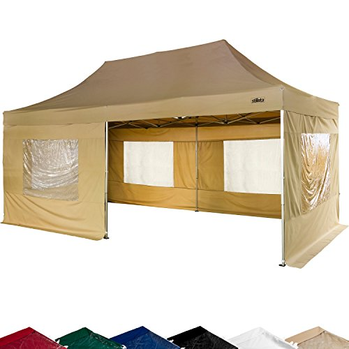 stilista faltpavillon 3x6m inkl seitenteile wasserdicht versiegelte n hte ev1 voll. Black Bedroom Furniture Sets. Home Design Ideas