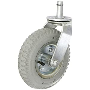 Diameter Pneumatic Wheel One Swivel Stem Caster, 325 lbs Capacity