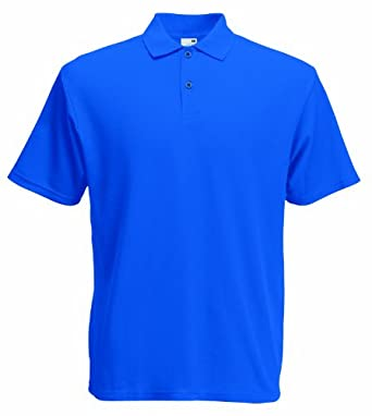 Fruit of the Loom Mens Original Lightweight Polo Shirt Royal Blue Medium