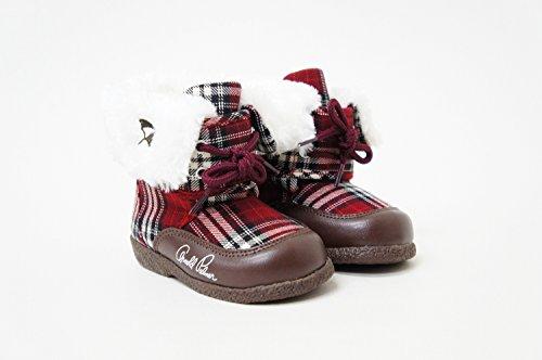 アーノルドパーマー お子様 キッズ ブーツ/ファー ボア ap7140 (15.0cm, レッド)