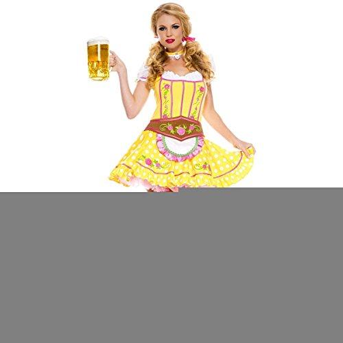 [GSG Bright Dirndl Costume Adult Oktoberfest Fancy Dress] (High Priest Zombie Costumes)