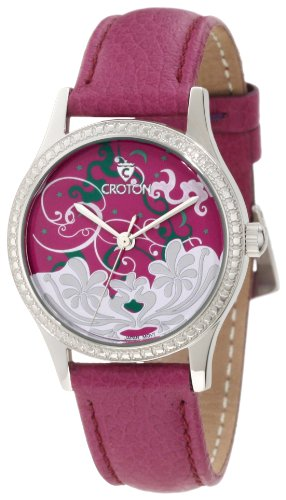 Croton Women's CN207317PSPP Tropics Purple Dial Purple Leather Watch