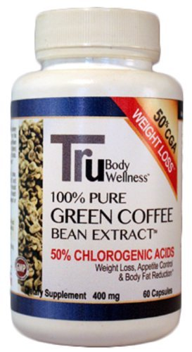 Tru Pure Green Coffee Beans With 50% Chlorogenic Acid 400Mg