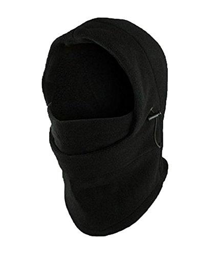 ... Fleece Double Layers Warmer Balaclava Ski Sport Face Mask - Black