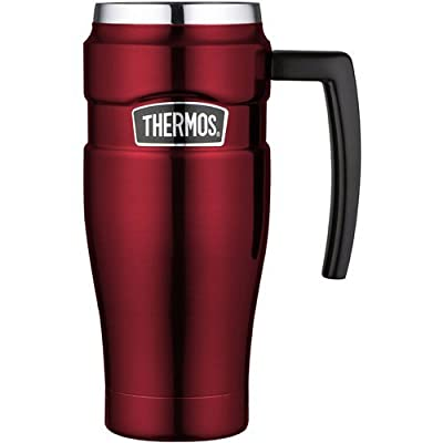 Thermos Stainless King 16-Ounce Leak- Proof Travel Mug with Handle from Thermos, L.L.C.