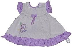 Be BeBo Girl's cotton Regular Fit Dress (595, Lavender, 18-24 months)