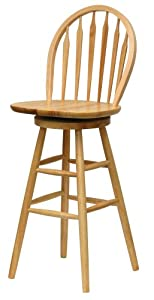 Winsome Wood 30-Inch Windsor Swivel Seat Bar Stool, Natural by Winsome Wood