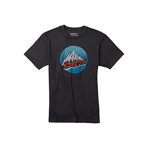 Burton - Maglietta da uomo Retro Mountain, Uomo, T-Shirt RETRO MOUNTAIN, Nero - True black heather, M