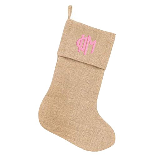 phi-mu-circle-monogram-burlap-christmas-stocking-tan-w-pink