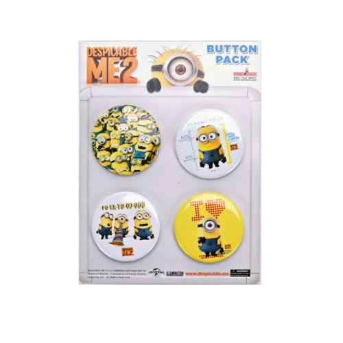 Despicable Me 2 Minion 4-Pack Button Set