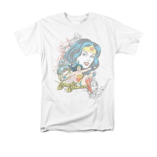 DC Comics Wonder Woman Wonder Scroll Men's T-Shirt Medium White