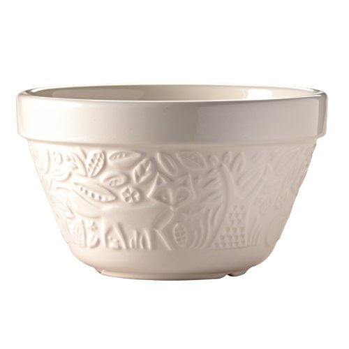 Mason Cash In The Forest Fox Steam Bowl (British Term - Pudding Basin), Cream, 0.95-Quart, 6-1/4 by 6-1/4 by 3-1/2 Inches