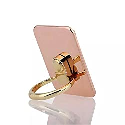 POLEND Kickstand Universal Black Bunker Ring Anti Drop Stand Holder,360 Degree Rotating Metal Ring Holder Mobile Phone Stand for iPhone iPad Tablet PC (004-Rose Gold)