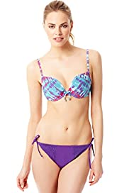 Tie Dye Underwired Push-Up Bikini Top