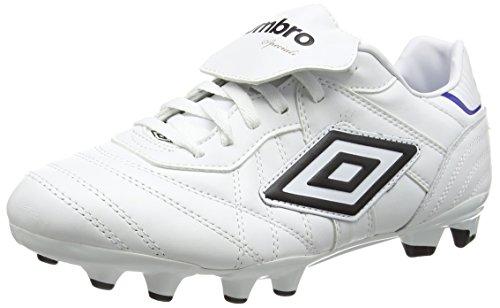 UmbroSpeciali Eternal Premier Hg - Scarpe da Calcio uomo , Bianco (White (White/Black/Clematis Blue)), 41