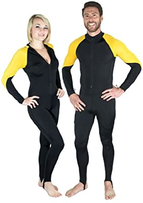 Storm Lycra Dive Skin in Yellow / Black
