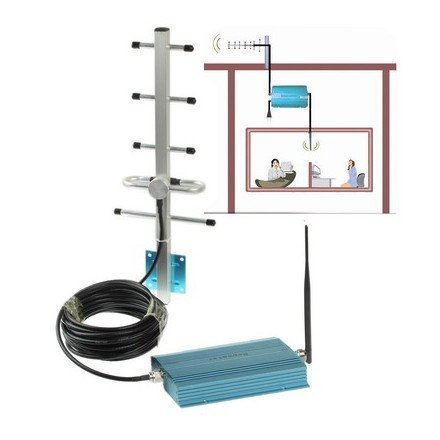 Sun Antenne und Signal-Repeater GSM, zum Verstärken des Signals über 100m²