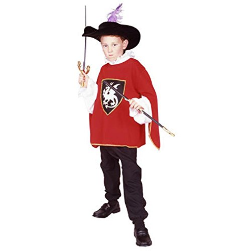 Child's Red Musketeer Costume (Size: Small 4-6)