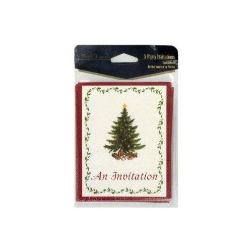 Classic Christmas 8 Count Invitations/envelopes - 1