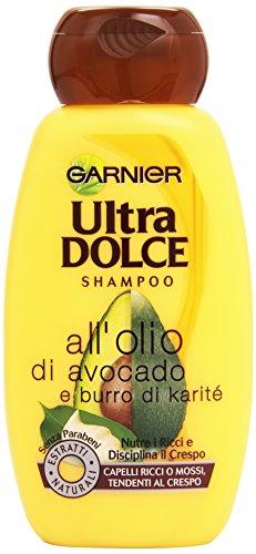 Garnier Ultra Dolce all'Olio di Avocado e Burro di Karité Shampoo per Capelli Ricci o Mossi, 250 ml