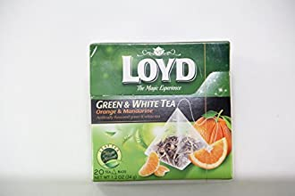 Loyd The Magic Experience Green and White Tea with Orange amp Mandarine Flavors 20 Tea Bags