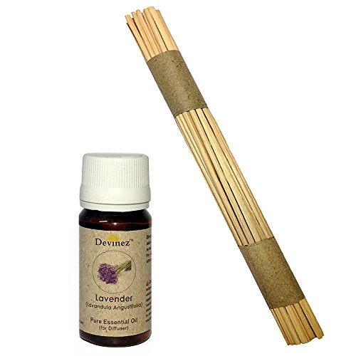Devinez Premium Reed Sticks/ Refill Pack For Reed Diffusers 10 Inches (100 Sticks) With Free 15ml Lavender Oil...