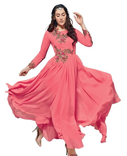 Heart & Soul Designer Wedding & Party Wear Fully Stitched Embroidery Designer Salwar Suits Dupatta XL size for women(Pink)
