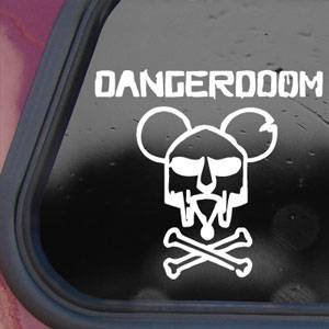 Danger Doom White Sticker Decal Mouse Mask Mf Hip-Hop Wall White Sticker Decal