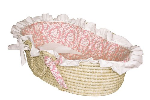 Versailles Pink Moses Basket