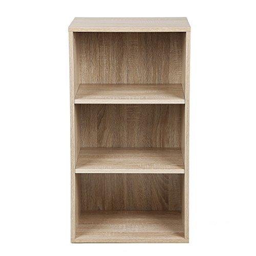 songmics 3 f chern b cherregal standregal belastung regalboden 30 kg f r diele flur b ro oder. Black Bedroom Furniture Sets. Home Design Ideas