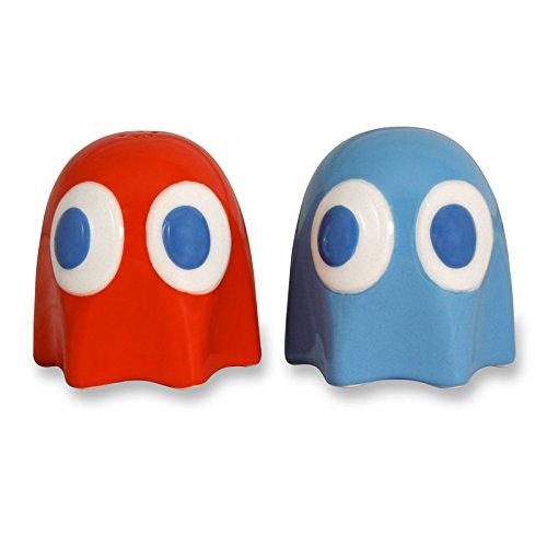 Pac-Man - Sale e pepe - Mini accessori per la cucina tratti dal videogioco cult - Set in 2 pezzi in ceramica
