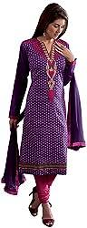 K.K BROTHERS Women's Cotton Dress Material (Purple)