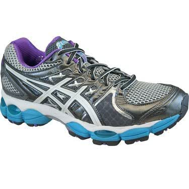Asics Gel Nimbus 14 Womens Running Shoes Lightning/Purple/Electric Blue 10