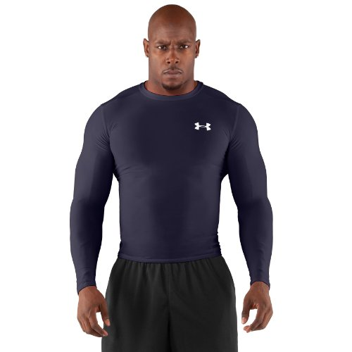 Review for Under Armour Men's HeatGear® Compression Long Sleeve T-Shirt Large Midnight Navy