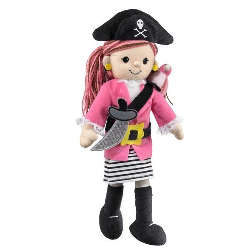Wild Life Artist Pirate Girl with Parrot, Pink - 1