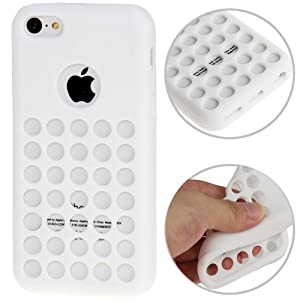 iPhone 5C Case Etui Coque en gel silicone souple Housse Apple - BLANC -