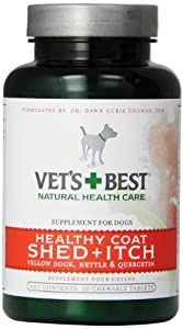 Veterinarian's Best Healthy Coat Shed & Itch Relief Chewable Tablets, 50 Count