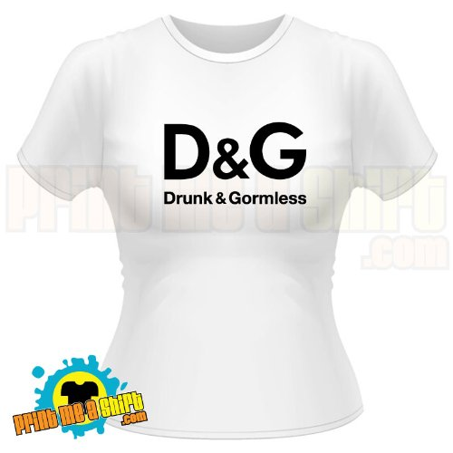 Ladies Drunk and gormless t shirt
