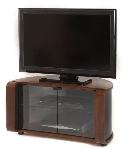 Off The Wall Flat Panel TV Cabinet in Walnut