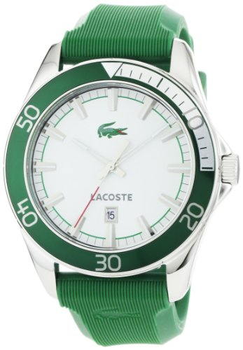 Lacoste Sport Navigator Green Rubber Mens Watch 2010550