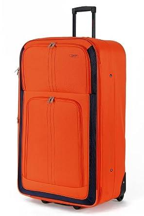 X Large 29'' Super Lightweight Expandable Luggage Suitcase (Orange)