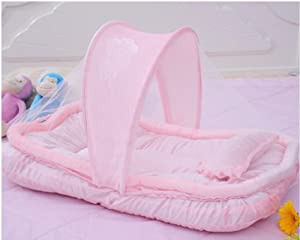 DREAMzz Baby Infant Girl Portable Bedding Fold N' Go Travel Bassinet