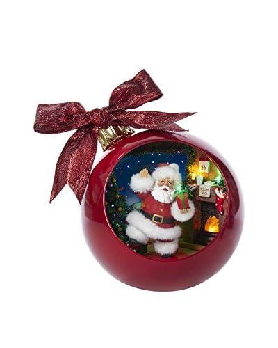 Kurt Adler Musical Santa by Fireplace Ball