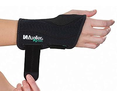 Mueller Fitted Right Wrist, Black, Small/medium
