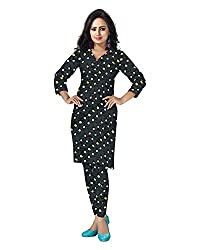 Banjara Women'S Cotton Bandhani Unstitched Dress Material (Rf24_Black_Free Size)