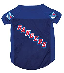 NHL New York Rangers Pet Jersey, Blue, Large