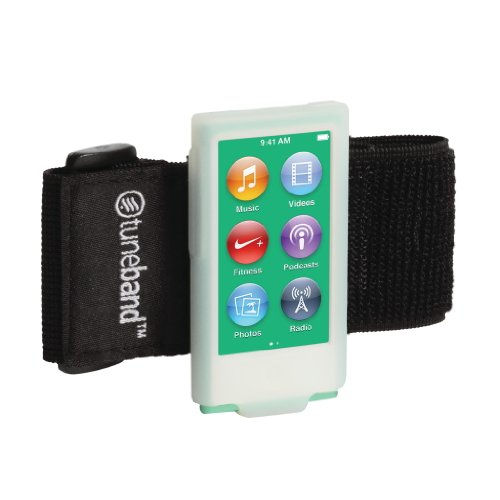 Tuneband for iPod nano 7th Generation (Model A1446, 16 GB), Glow-in-the-Dark, Grantwood Technology's Armband, Silicone Skin, and Screen Protector